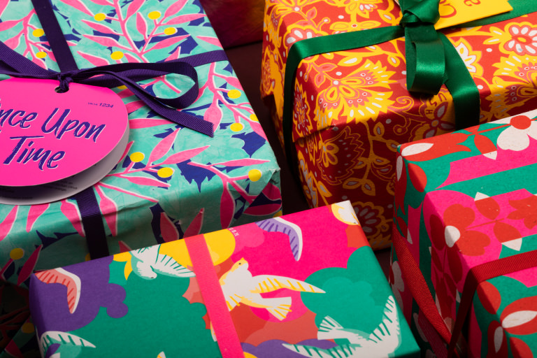 Close up of gift papers