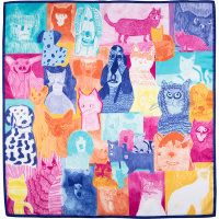cats and dogs themed knot wrap