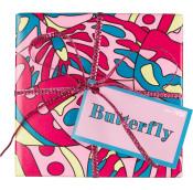 butterfly caja de regalo de color púrpura con cosméticos de lavanda