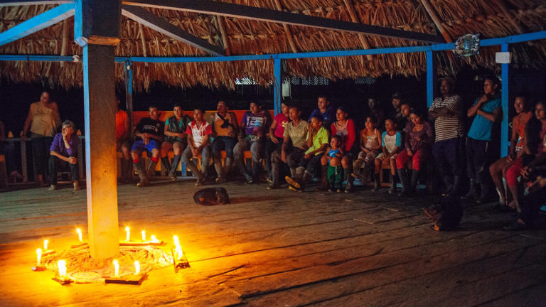 Sitting around a camp fire