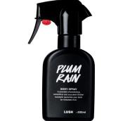 Plum Rain spray corporal vegano em recipiente preto