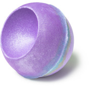 goddess bomba de baño de color lila y plata con jazmín