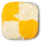 yellow and cream squared bubble bar