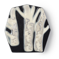 Sapone scultura nero con alberi bianchi