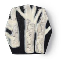 Schwarze Seife mit einem weißen Baum in 3D-Druck Design