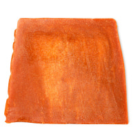 jabón de color dorado con aroma a pera