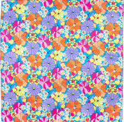 purple floral themed knot wrap