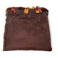 ro's argan handmade soap cut into a slice