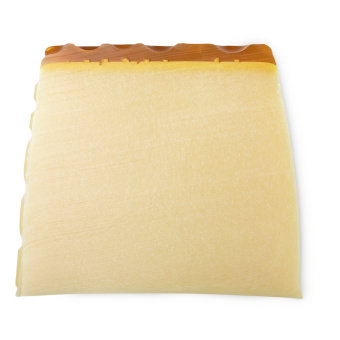 A block of the beige Honey I Washed The Kids soap