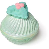 holly golightly bomba de baño gigante de navidad de color verde en forma de acebo