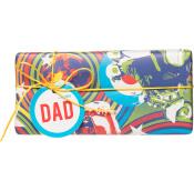 Rechteckiges gemustertes Vatertagsgeschenk mit gelbem Band