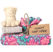 a tenguri wrap with sleepy soap and polar bear soap