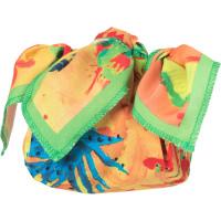 Confezione regalo con knot wrap con stampa di cactus