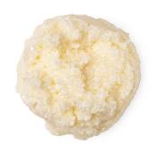 cream coloured dollop of scrub