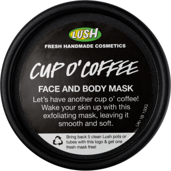 Embalagem da mascara Cup O'Coffee