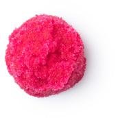 cranberyy fizz exfoliante labial de edición limitada de navidad de color rosa intenso