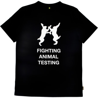 Fighting Animal Testing Black Tee