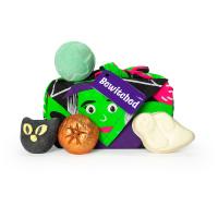 Bewitched é um dos presentes de halloween cheio de mimos assustadores e um knot wrap reutilizável