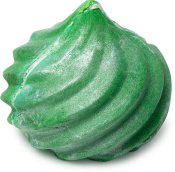 green emerald shaped bubble bar