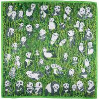 green panda themed knot wrap