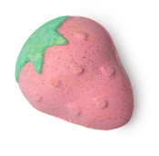 strawberries and cream bath bomb
