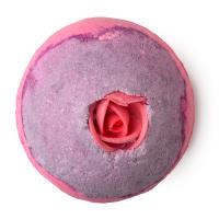 Sex Bomb pinke und violette Badekugel mit Zucker Rosenknospe