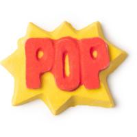pop é uma espuma de banho amarela do dia do pai