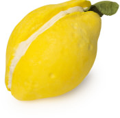 A lemon shaped bubble bar