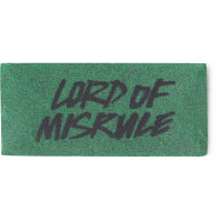 A dark green washcard featuring the words lord of misrule