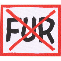 no fur swag patch