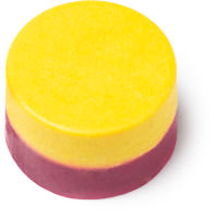 mmmelting marshmellow moment aceite de baño color rosa y amarillo
