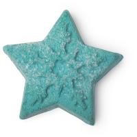 A green star shaped bubble bar