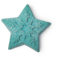 A green star shaped bubble bar