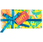 The Happy gift shown from the front