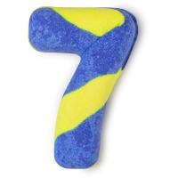 Birthday Number Seven - Spumante da bagno speziato a forma di numero 7