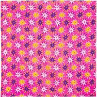 Pinkes Tuch mit weißen, pinken und gelben Sternen