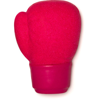 pink boxing glove shaped reusable bubble bar