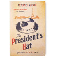 book cover with illustrated hat