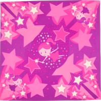 Snow fairy é um dos lenços de natal cor de rosa com fadas