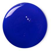 blue circular splodge of shower gel
