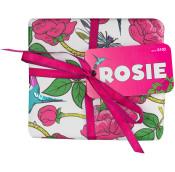 Rosie caja de regalo con rosas y repleto de cosméticos con rosas