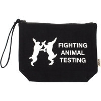 Fighting Animal Testing Cosmetic Bag