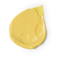 yog nog é uma das loções de corpo mais doces da Lush de cor amarela e aroma a caramelo com mel hidratante