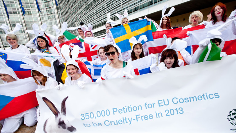 Fighting EU animal testing in Brussels