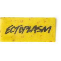 ectoplasm halloween postal de ducha de color amarillo