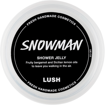 Snowman shower jelly