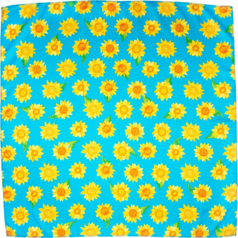 green and yellow sunflower themed knot wrap