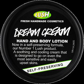 Der Deckel der Dream Cream Body Lotion