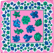 pink and blue floral themed knot wrap