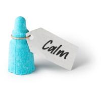 Mini bomba de banho little bottle of calm azul para uma sensação de paz